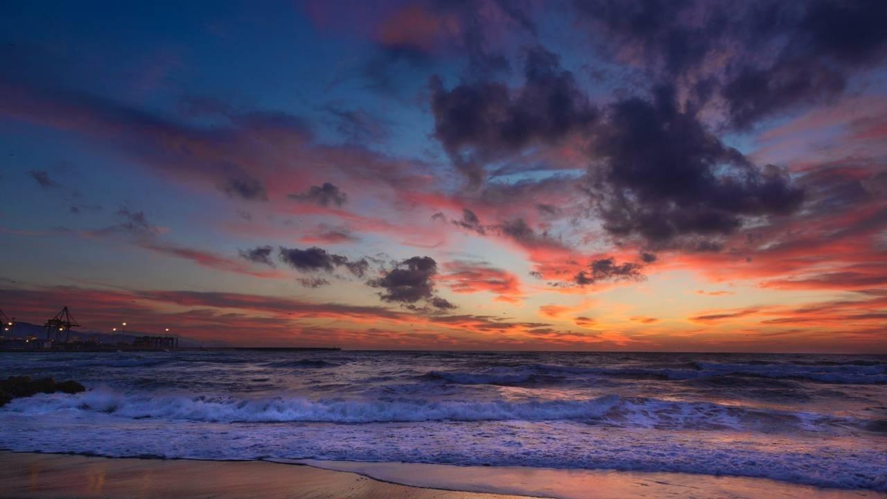 Churning Sky Sunset