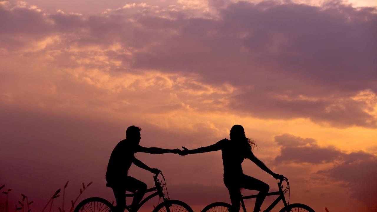 Valentines Orange Sky Bicycle