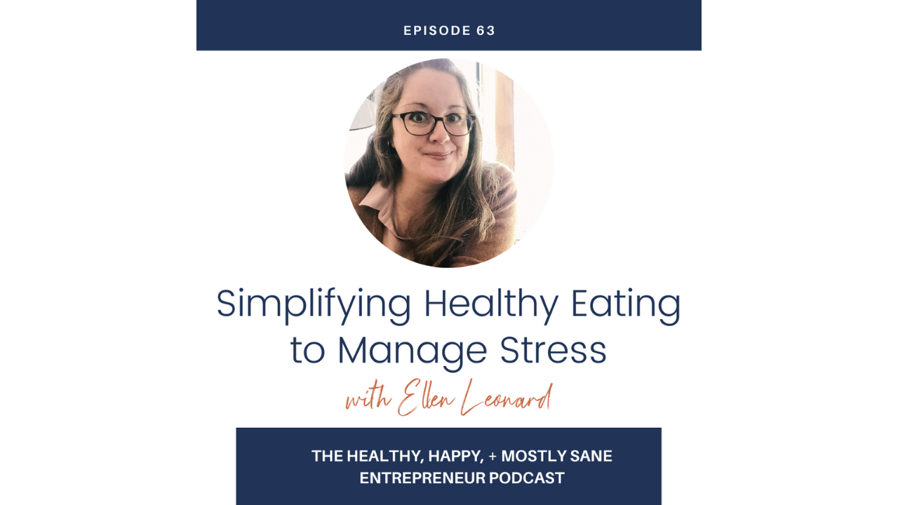healthy eating to manage stress podcast