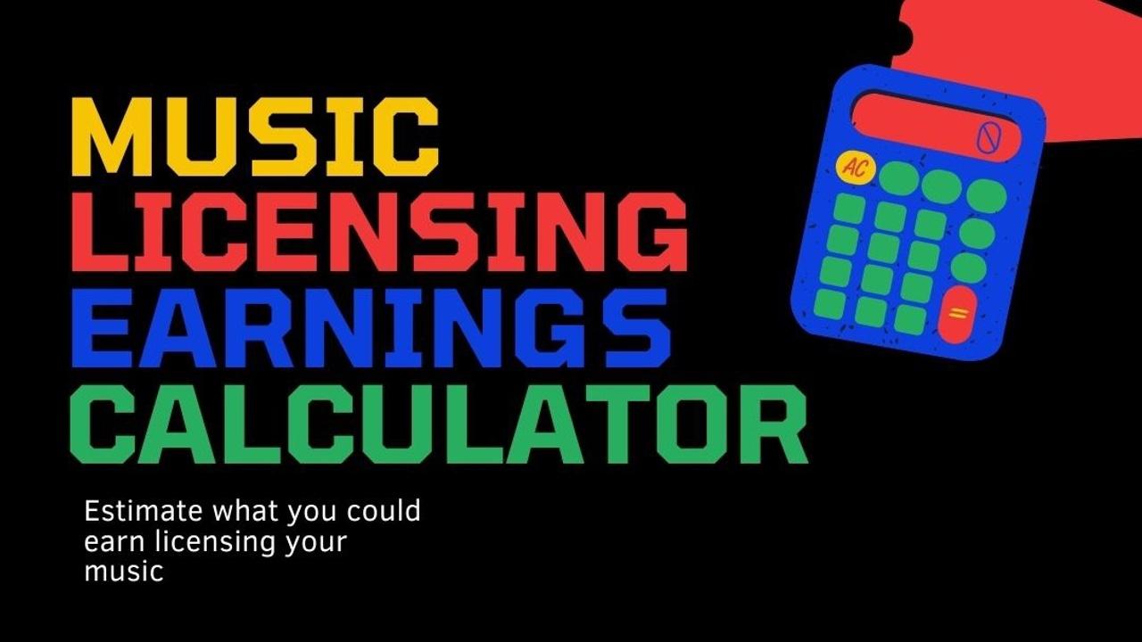 Music Licensing income calculator