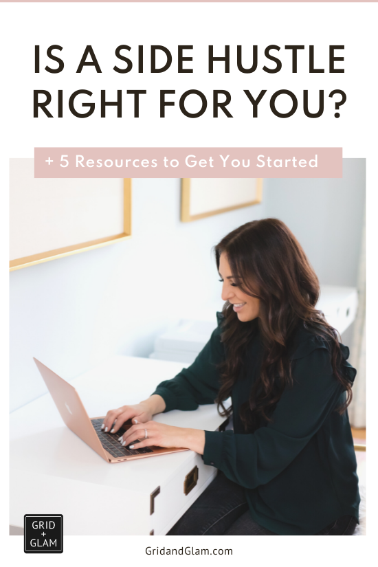 graphic with title 'Is A Side Hustle Right for You?'