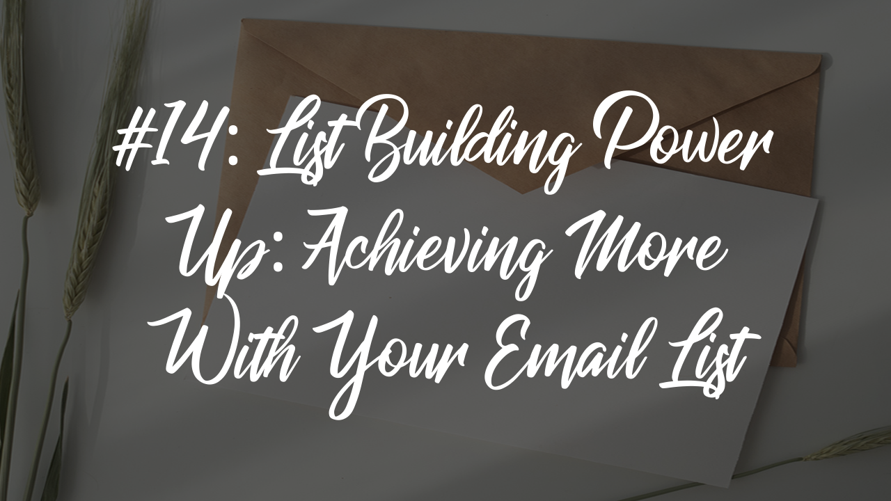 Blog article 18 - achieving more with your email list