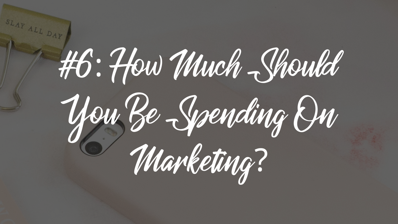 Blog article - how much should you spend on marketing