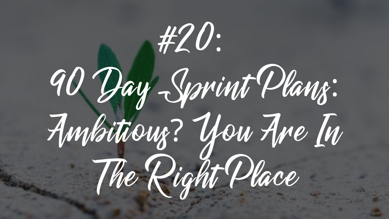 Blog article 25 - 90 day sprint plans