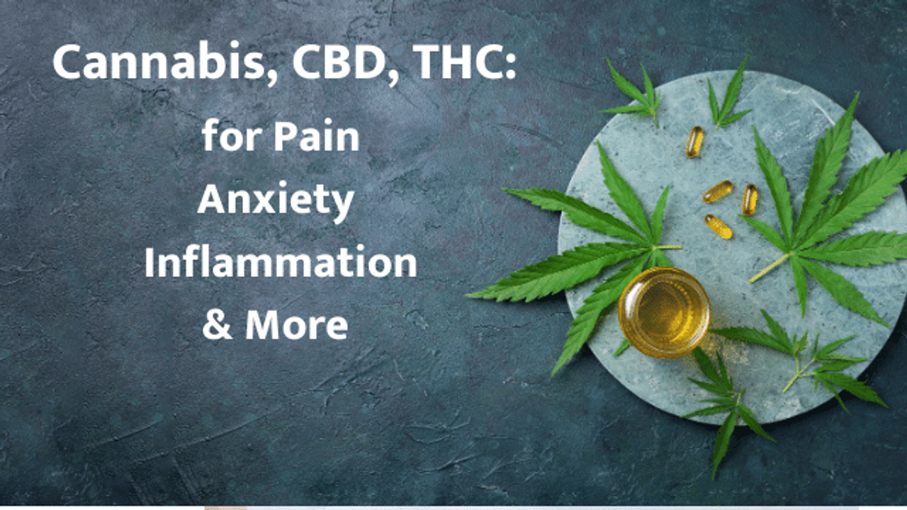 cannabis CBD THC for pain anxiety inflammation