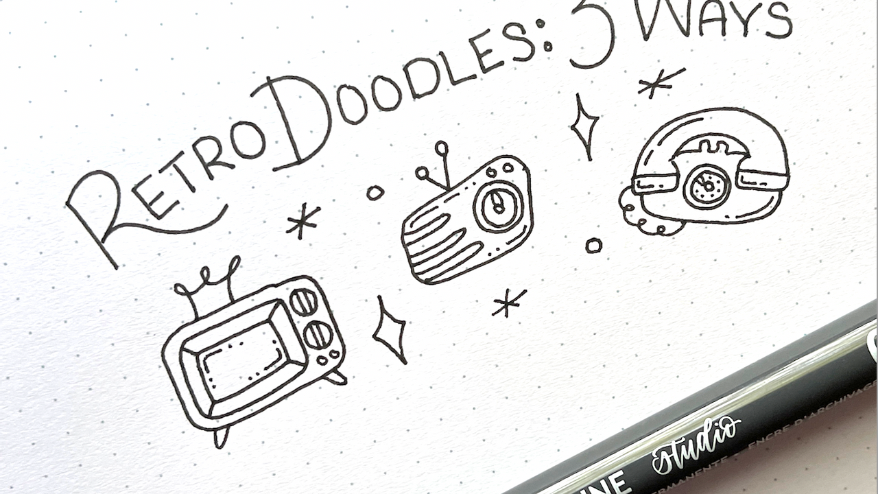 How to draw retro style doodles