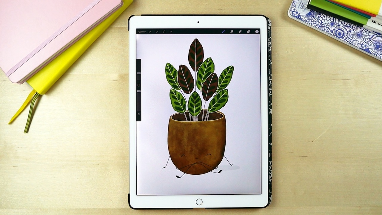 How to paint a houseplant in procreate