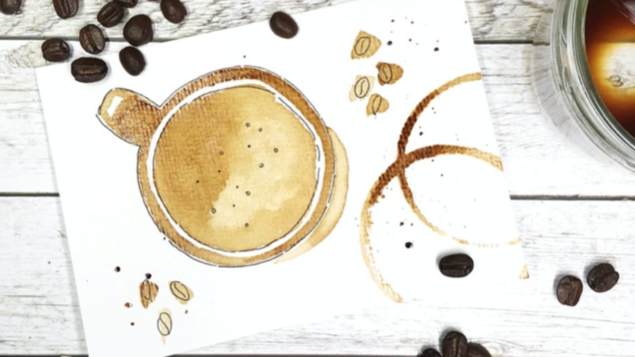How to paint with real coffee