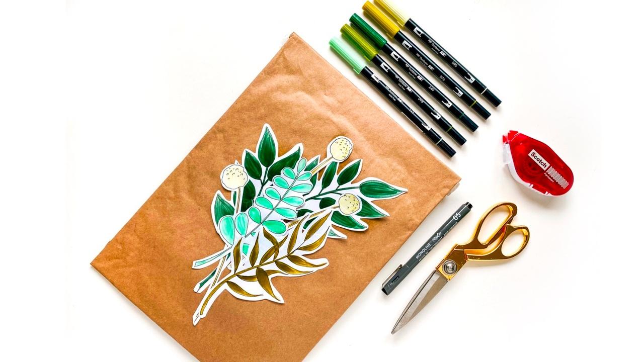 DIY Botanical Leaves Paper Craft