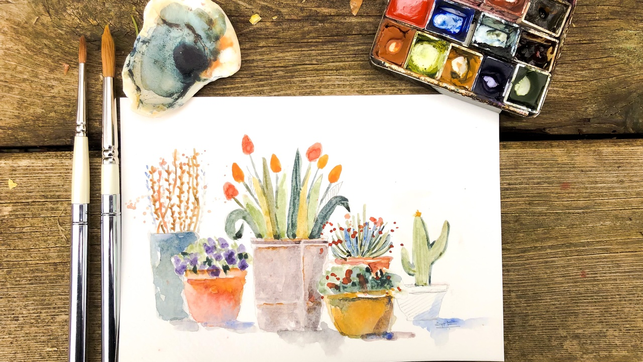 How to paint with handmade watercolors