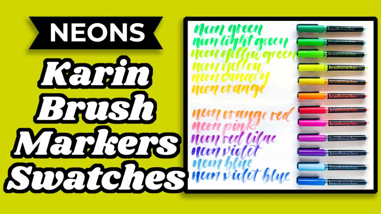 Karin Neon Brush Marker Swatch