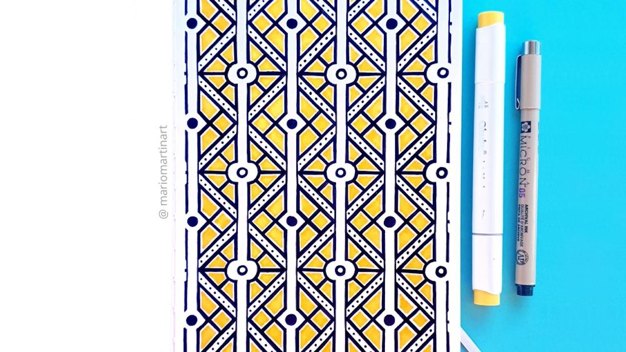 How To Draw A Geometric Art Decó Pattern