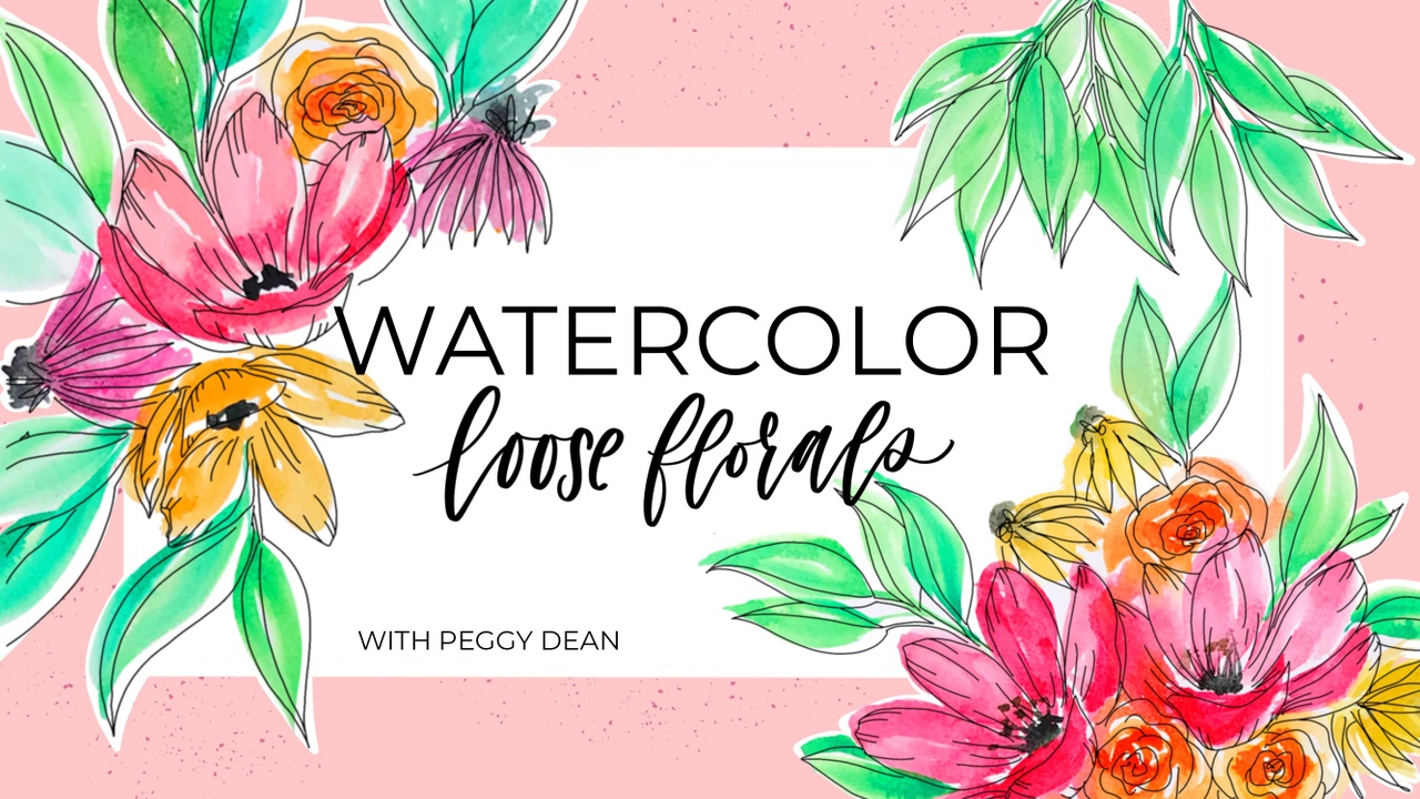 Watercolor Loose Florals