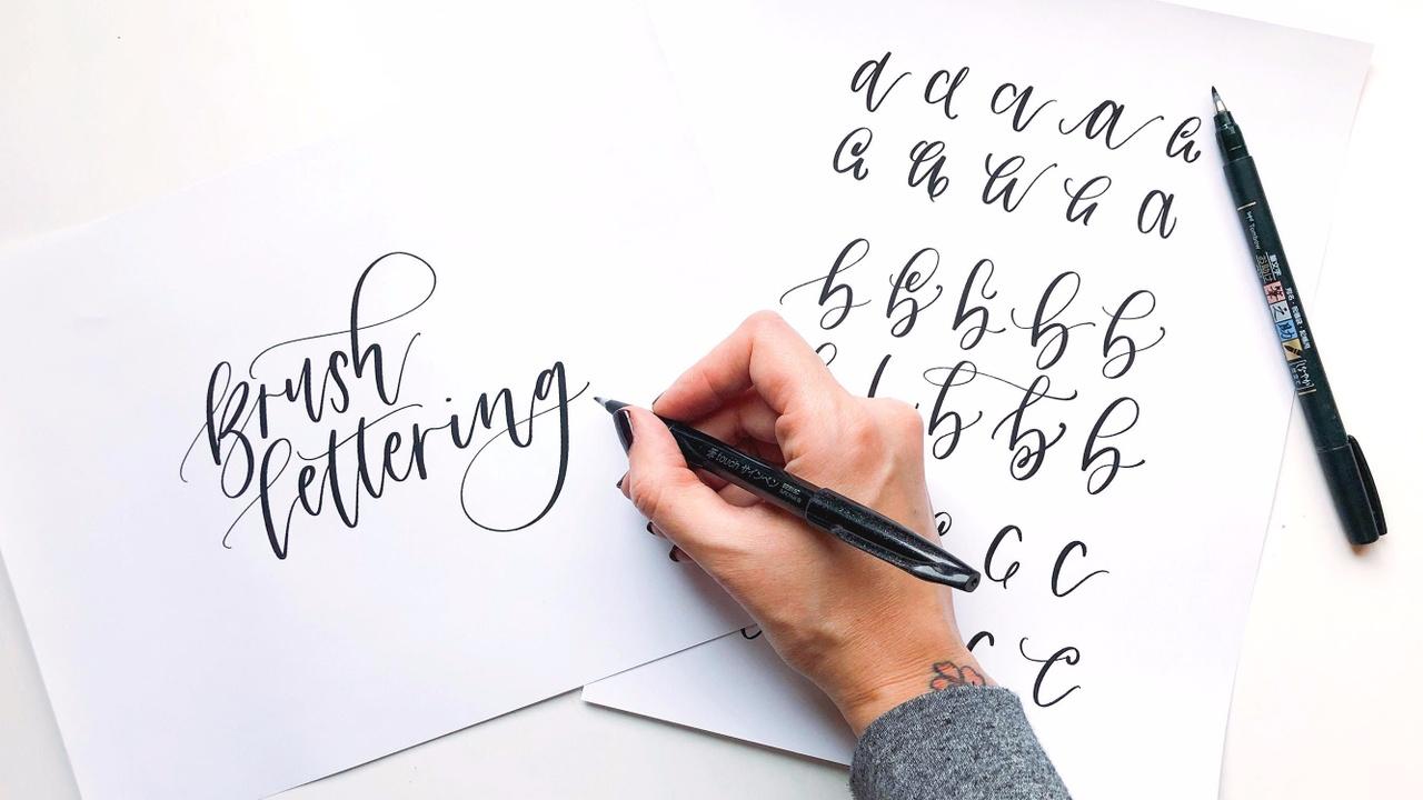 Brush Lettering Alphabet Basics