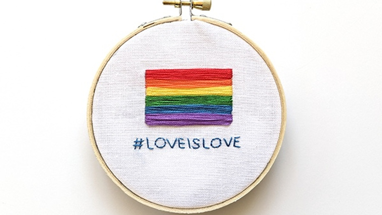 How to stitch a Gay Pride flag