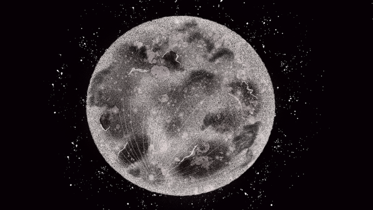 How to draw a full moon in Procreate