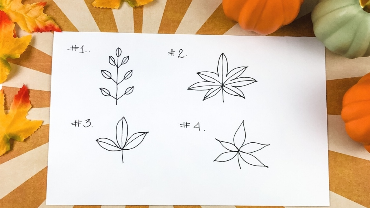Easy Ways To Draw Fall Leaves