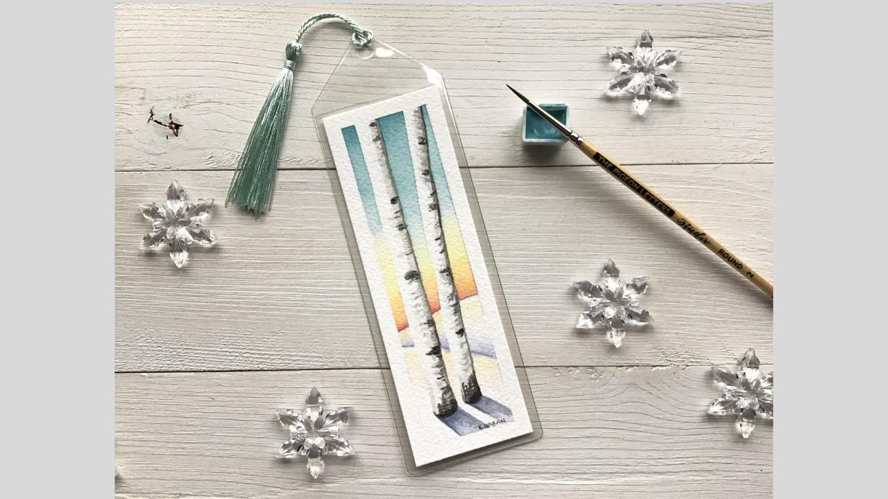 DIY Bookmark Watercolor Tutorial