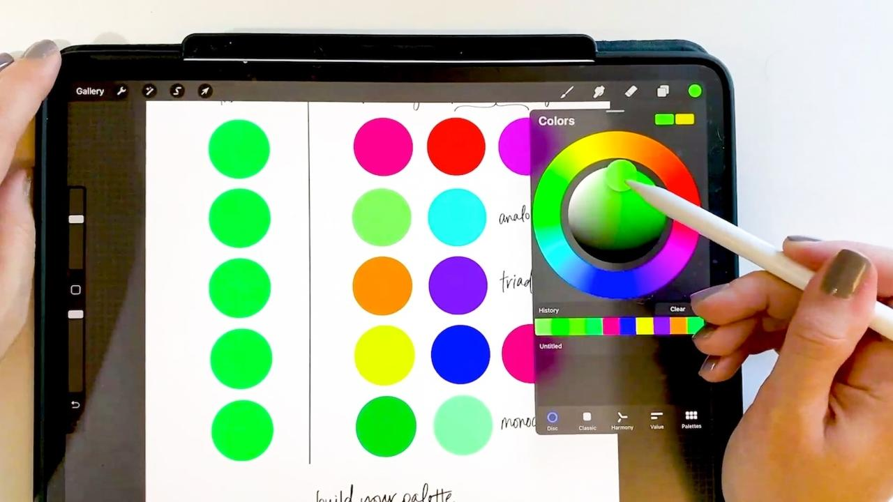 How to Make Color Palettes on Procreate