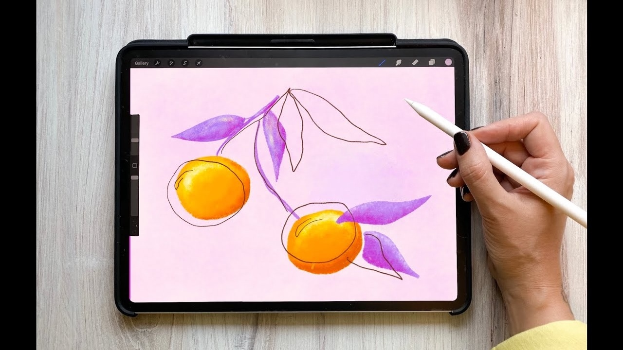 How to draw playful fruit in Procreate