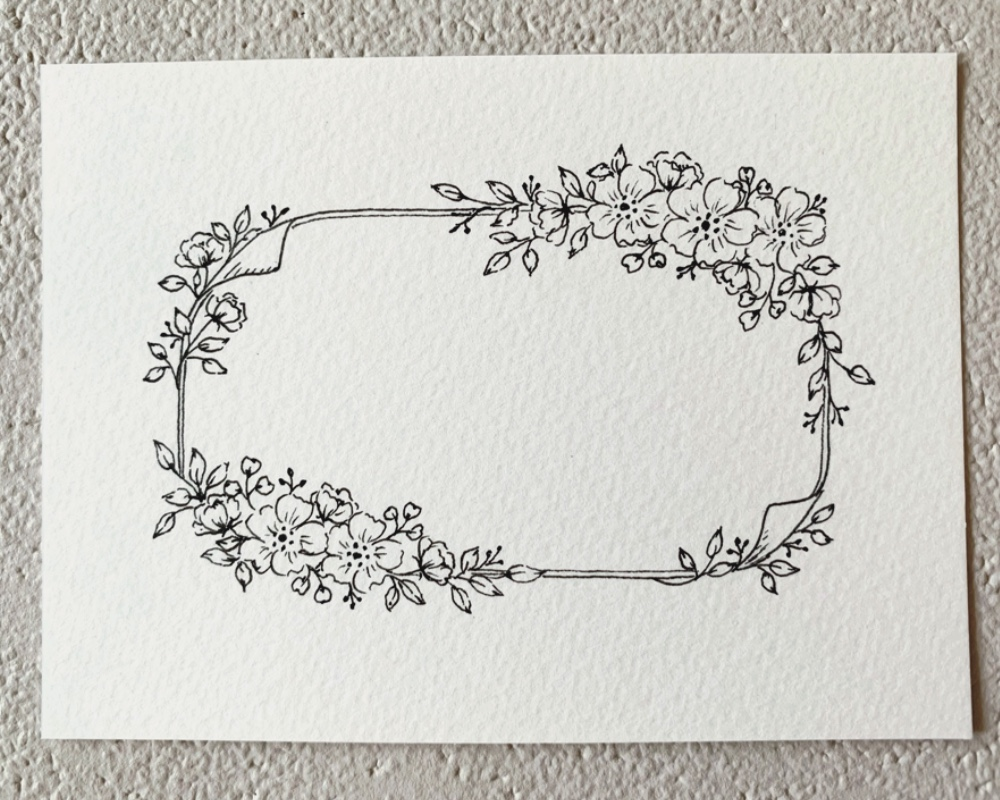 Learn How to Draw a Floral Frame
