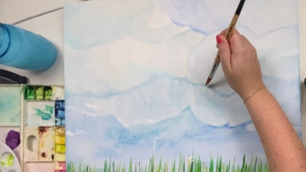 How to use watercolor ground on canvas
