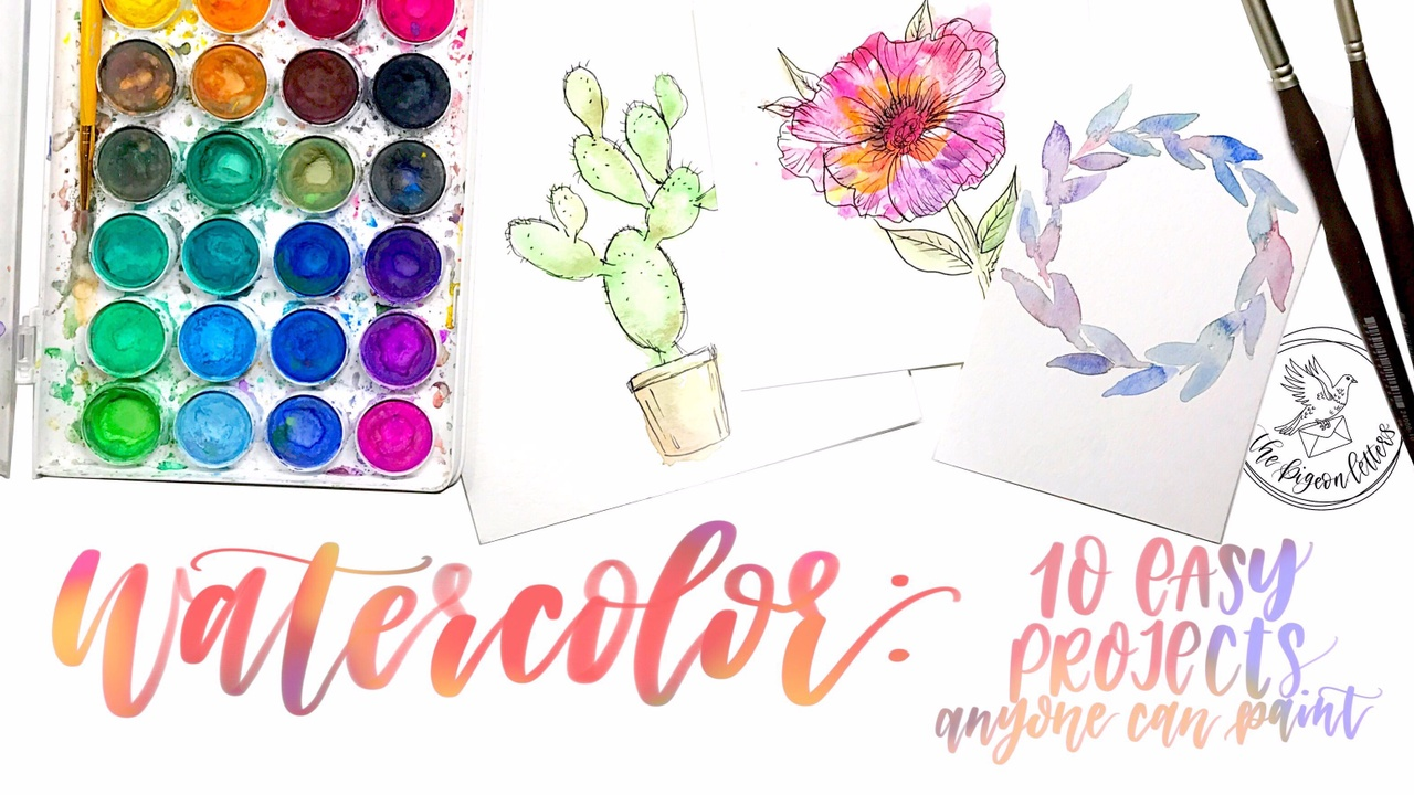 Watercolor 10 Easy Projects Anyone Can Paint