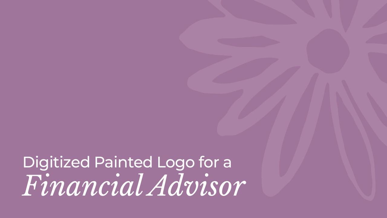 Digitized Painted Daisy Logo for Female Financial Advisor