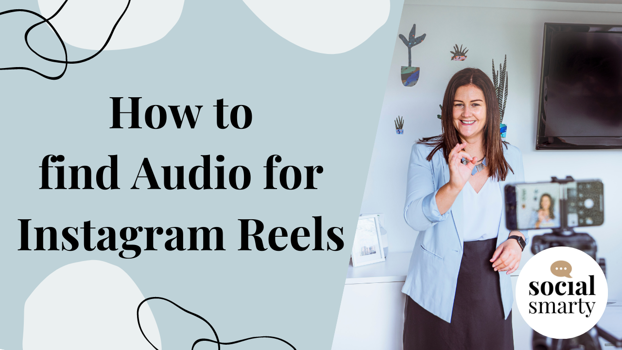How to find Instagram Reels music text with Social Smarty looking at mobile phone video