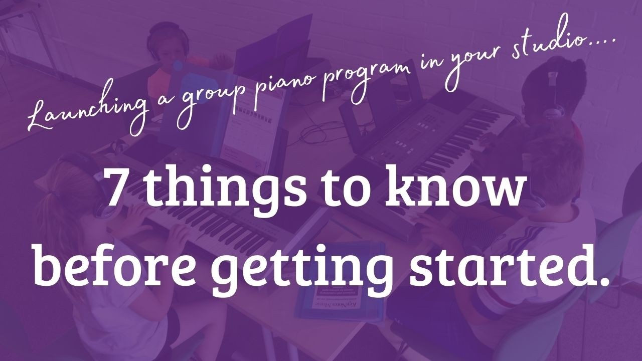 Start teaching group piano
