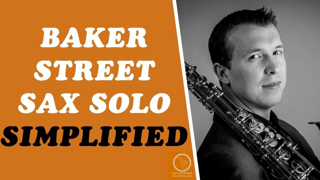 Baker Street Sax Solo PDF Sheet Music