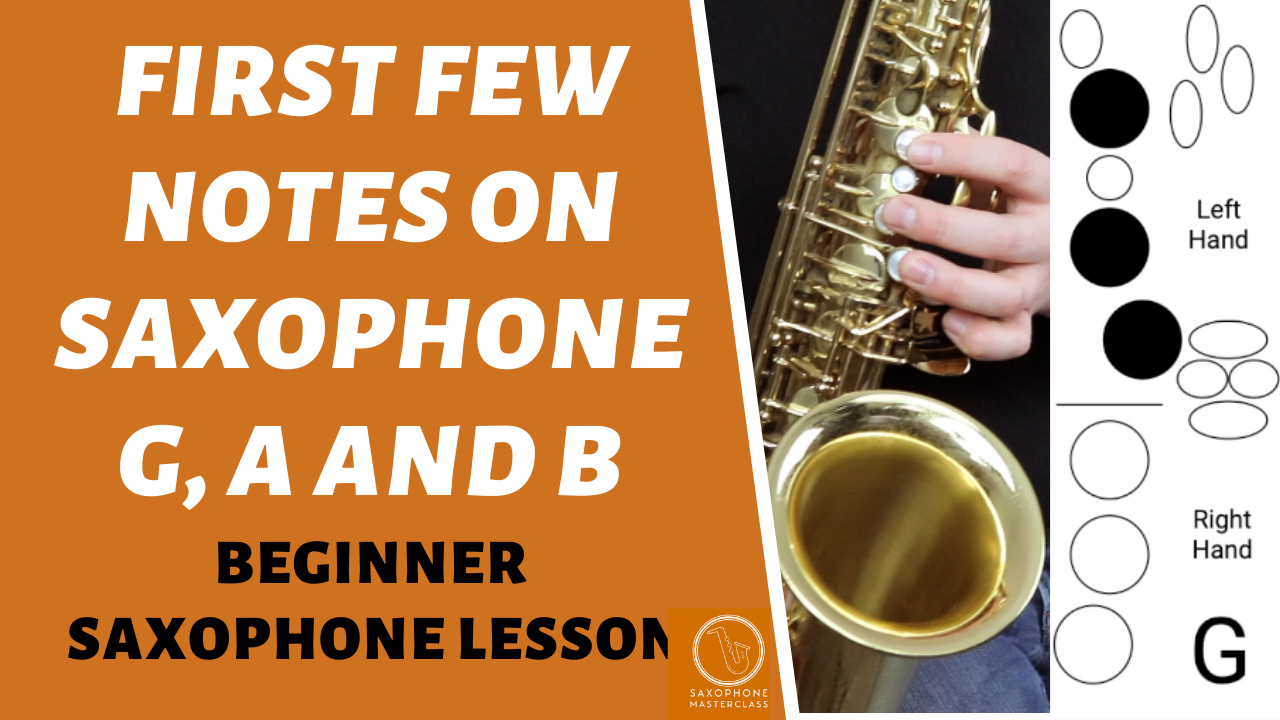 how to play notes on saxophone free lesson