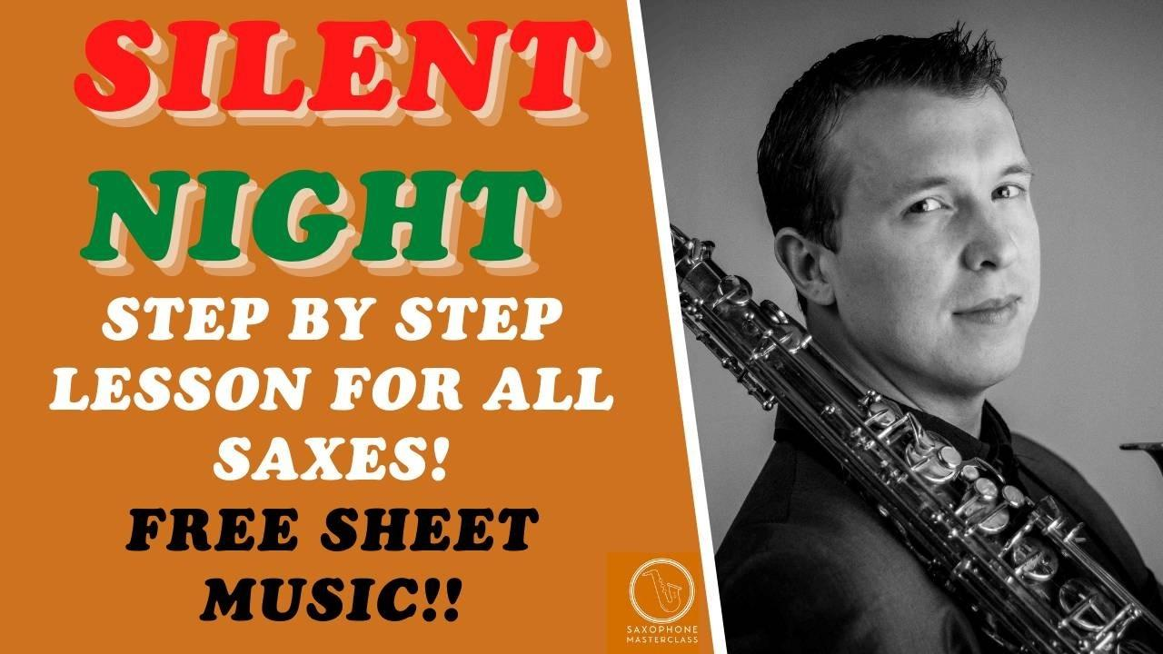 how to play silent night sax sheet music pdf
