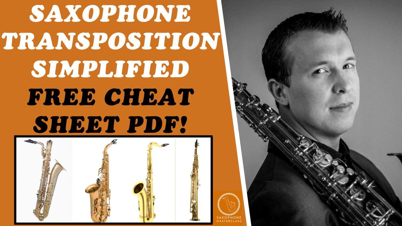 how to transpose on sax