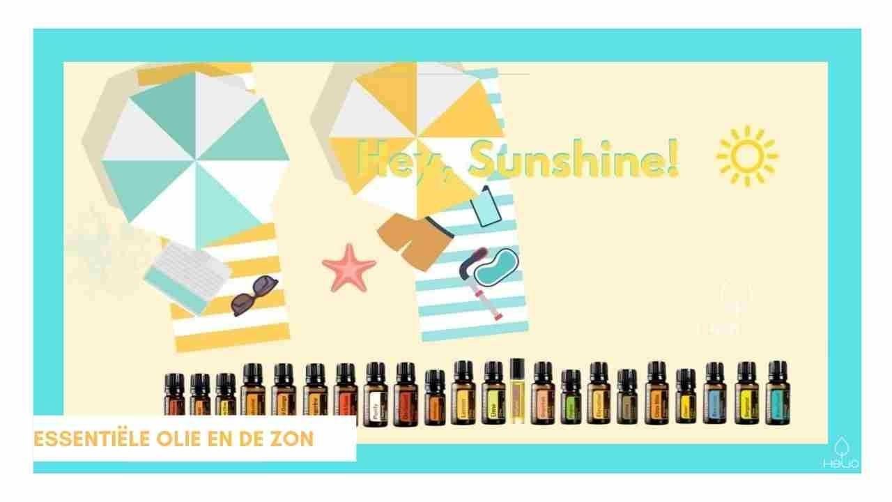 etherische olie en de zon