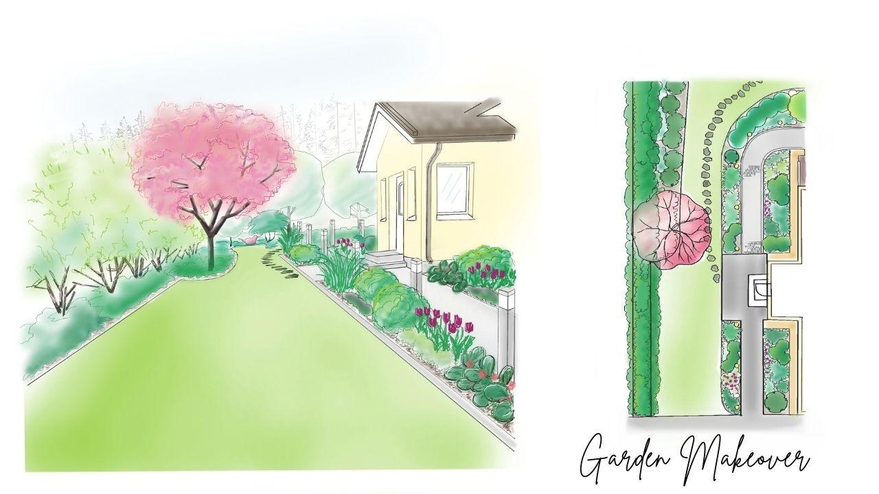 Front yard Makeover garden design ideas