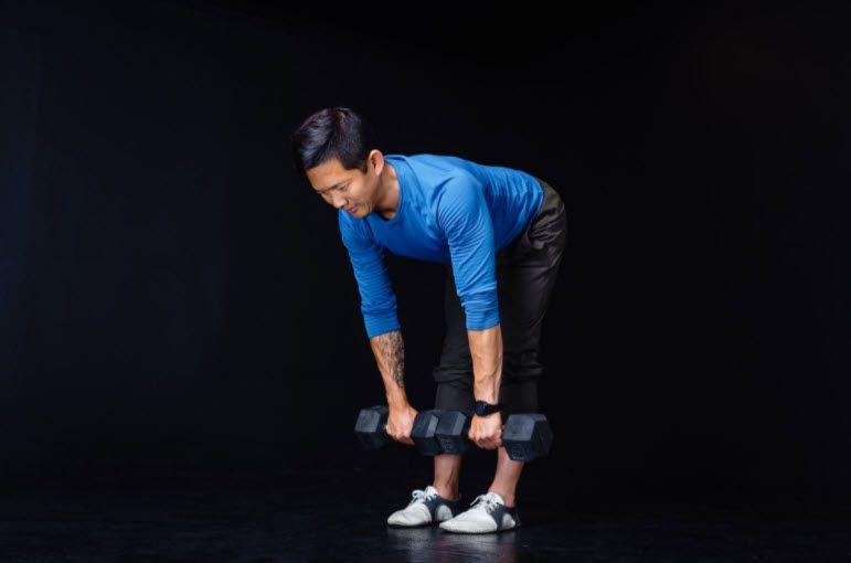 Matt Hsu doing a back and hip strengthening exercise
