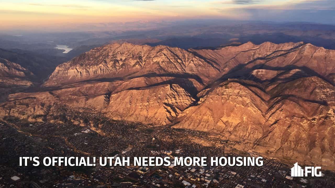 Utah County aerial shot