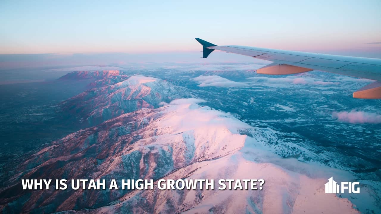Flying over Utah State