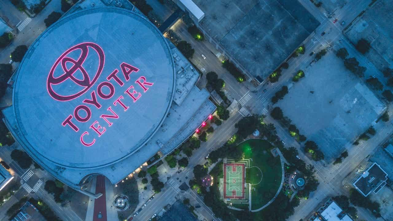 Houston Texas Drone Shot