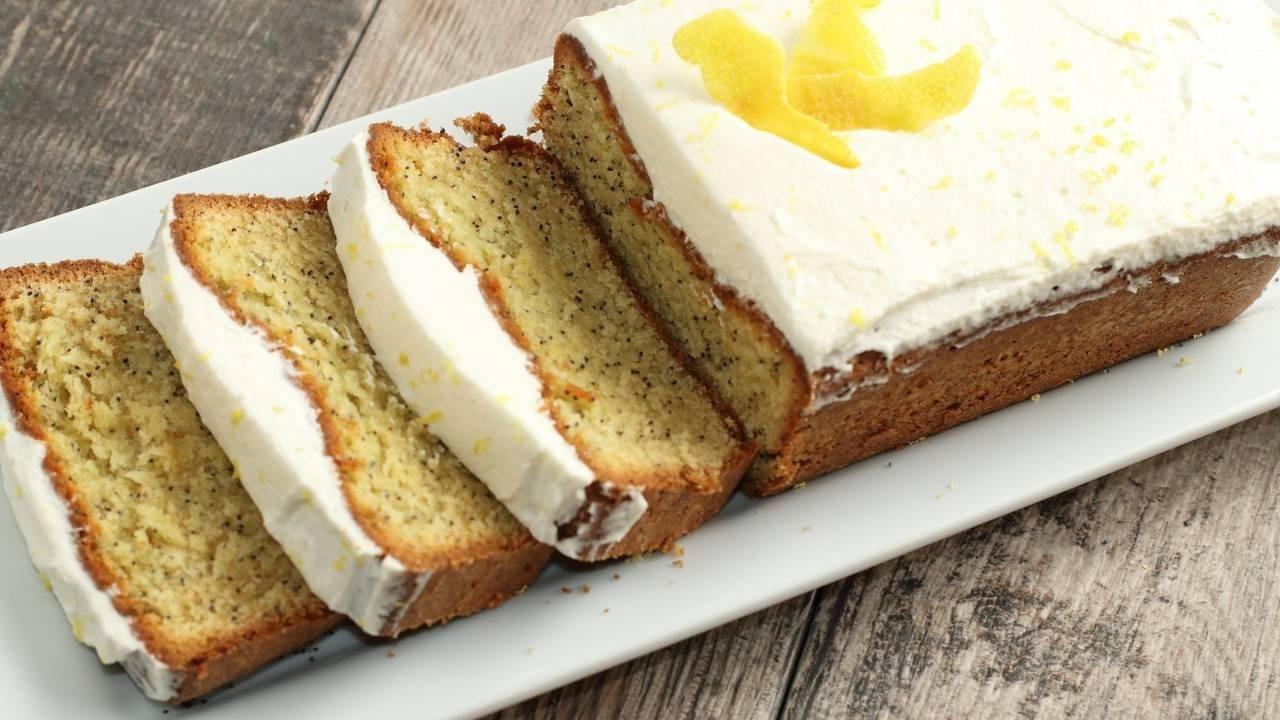 Moist Lemon Poppy-Seed Cake with Crème Fraîche Frosting