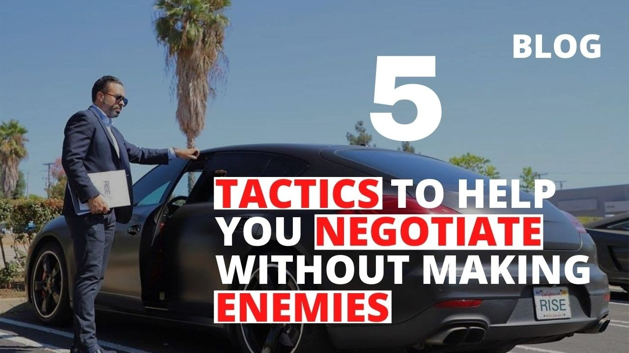 5 Tactics to Help You Negotiate Without Making Enemies