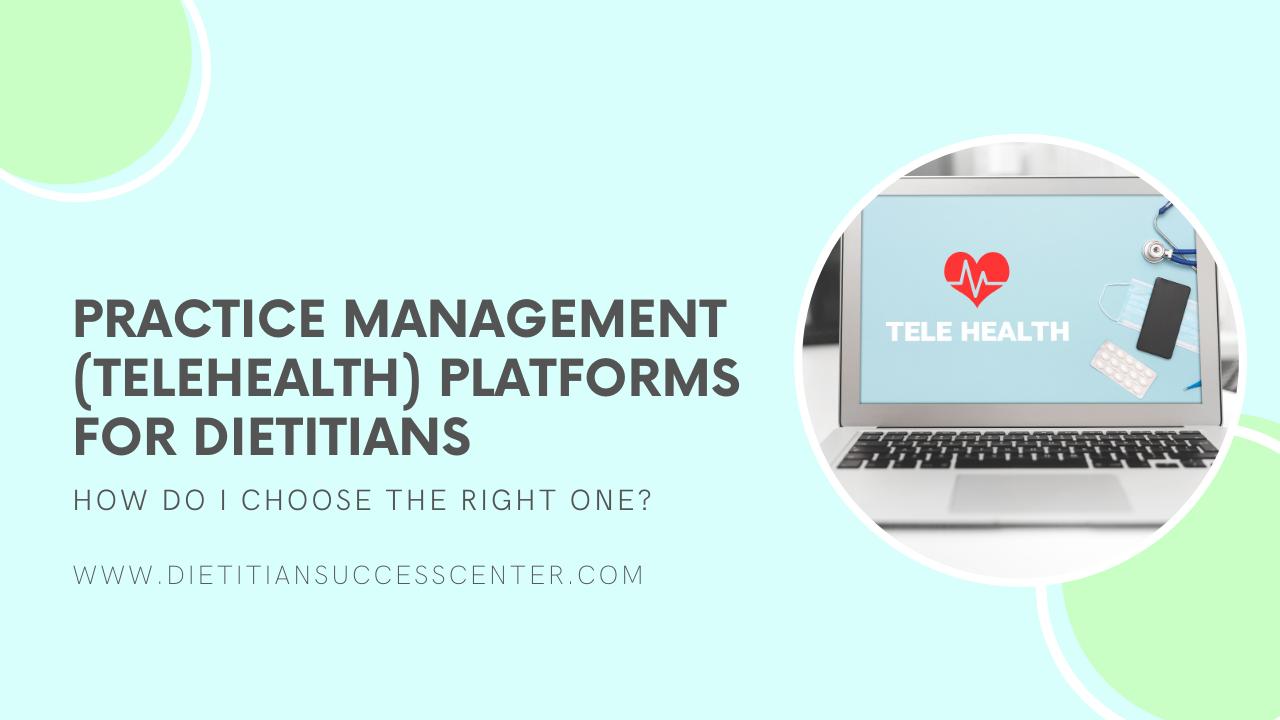 telehealth platforms for dietitians