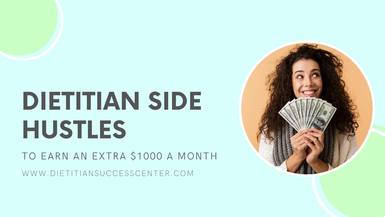 dietitian side hustles