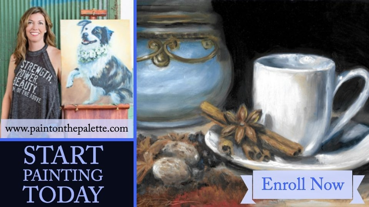 What is Alla Prima?  Learn How to Paint this Coffee Cup Still Life Oil Painting Online Class