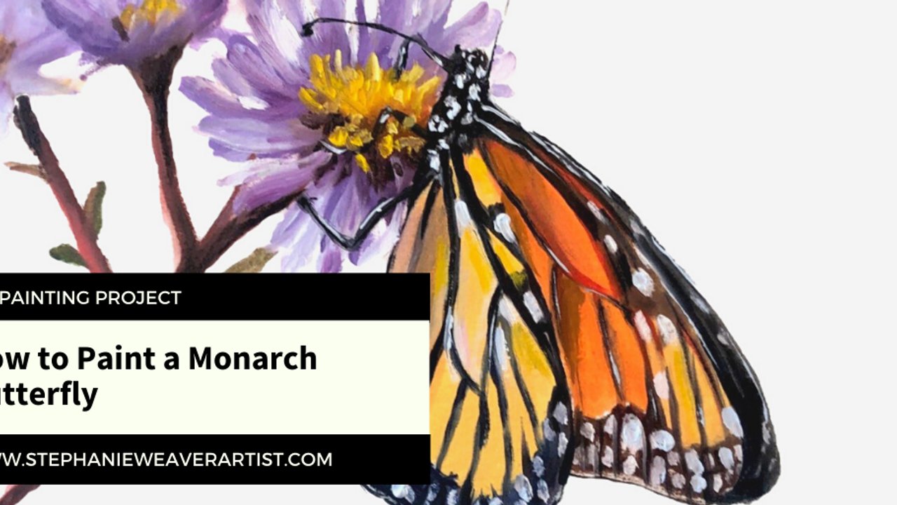 Oil Painting Project: How to Paint A Monarch Butterfly