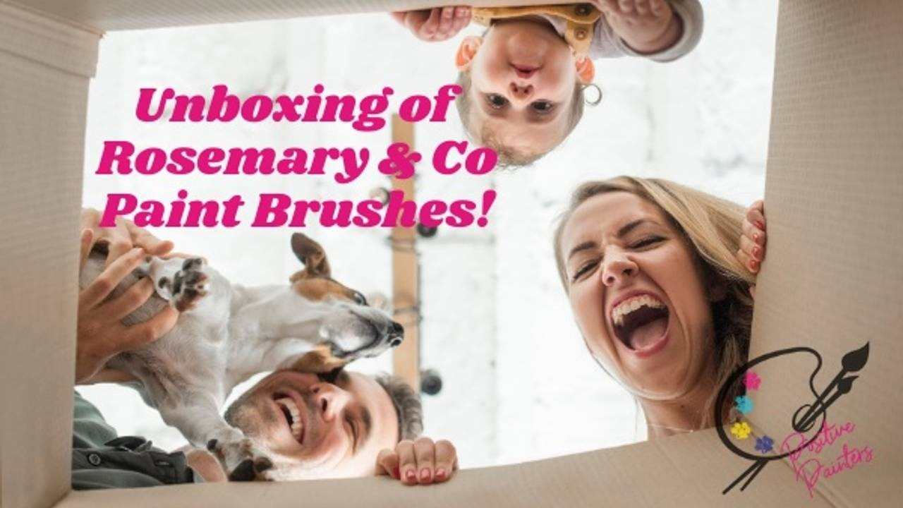 Unboxing Video of Fabulous Rosemary & Co Oil Painting Brushes