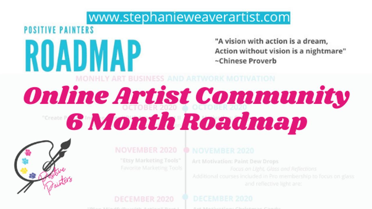 Online Artist Community Roadmap of art and art business meetings