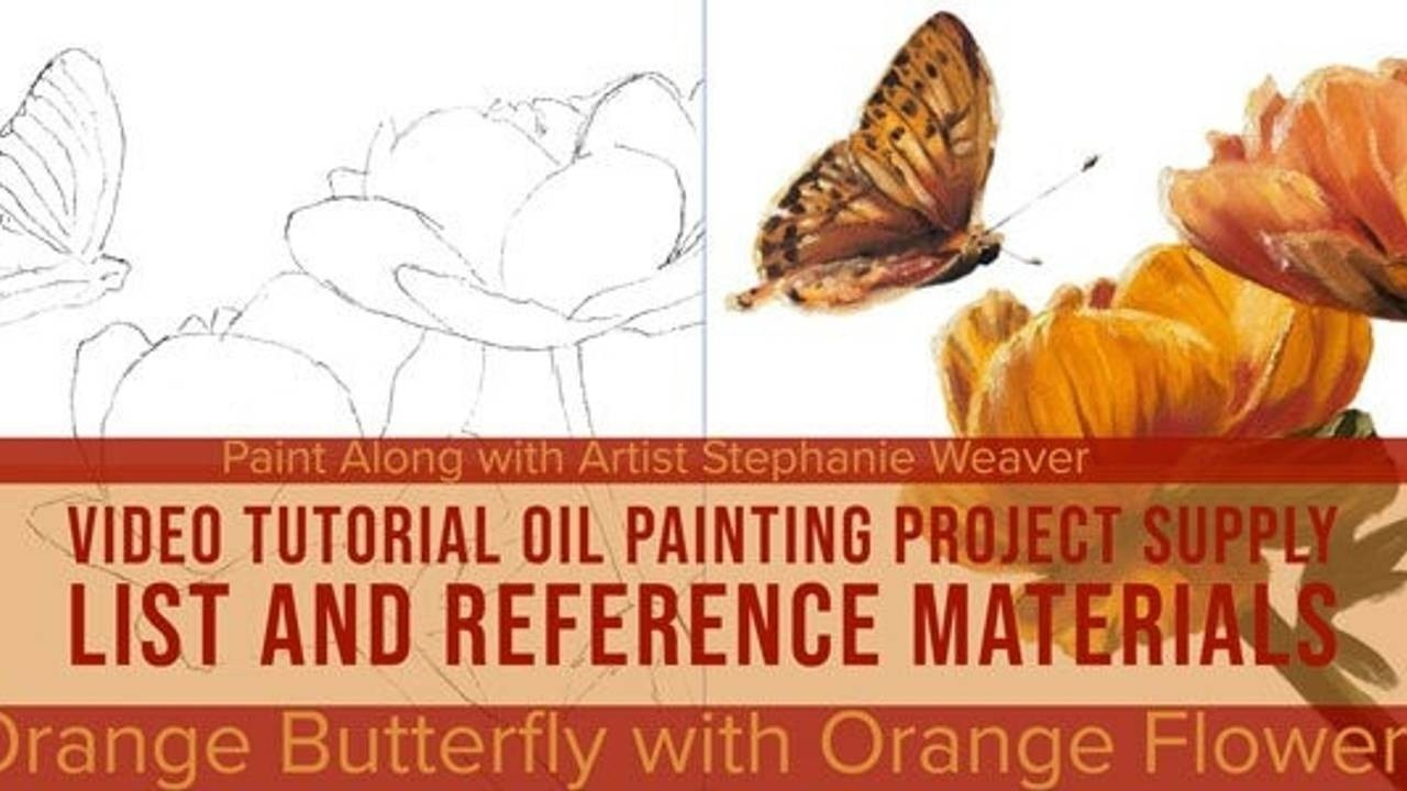Oil Painting Project: Orange Butterfly with Orange Flowers