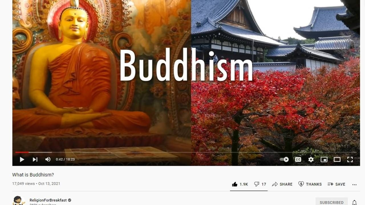 What is Buddhism video on Religion for Breakfast YouTube Channel